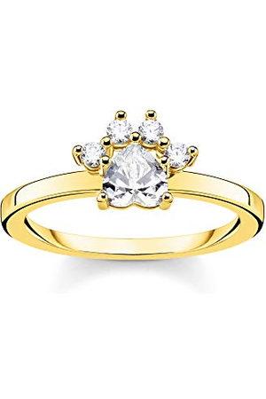 Thomas Sabo Pierścienie srebrne, pozłacane, cyrkonia, rozmiar pierścionka 52 TR2289-414-14-52