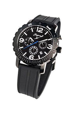 BOGEY Męski chronograf kwarcowy zegarek z gumową bransoletką BSFS005BWBK