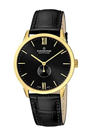 Candino Męski data klasyczny zegarek kwarcowy ze skórzanym paskiem C4471/4