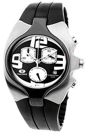 Time Force Analogowy zegarek kwarcowy z gumowym paskiem TF2640M-04-1
