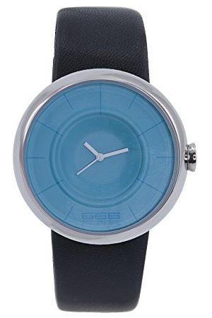 666Barcelona Męski analogowy zegarek kwarcowy ze skórzanym paskiem 66-293