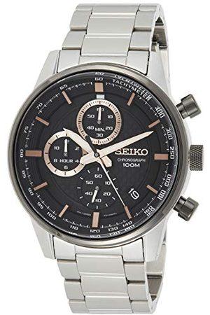 Seiko Chronograf męski zegarek stal szlachetna z metalowym paskiem SSB331P1