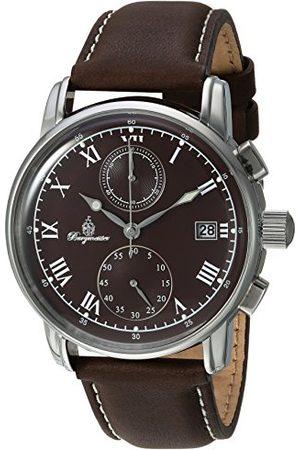 Burgmeister Męski chronograf kwarcowy zegarek ze skórzanym paskiem BM334-195