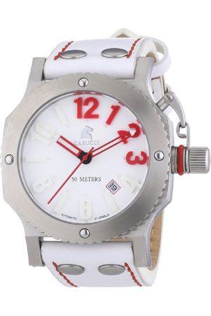 Carucci Watches męski zegarek na rękę XL analogowy automatyczny skóra CA2210SL-RD