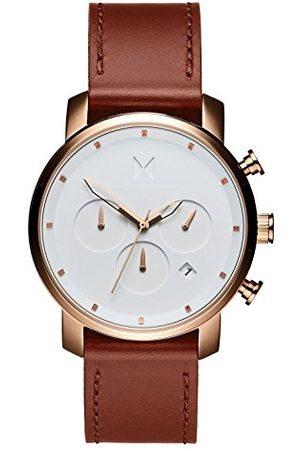 MVMT Męski chronograf kwarcowy zegarek ze skórzanym paskiem D-MC02-RGNA