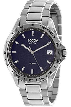 Boccia 3597-01 męski analogowy zegarek kwarcowy z bransoletką tytanową