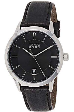 HUGO BOSS Męski analogowy klasyczny zegarek kwarcowy ze skórzanym paskiem 1513611