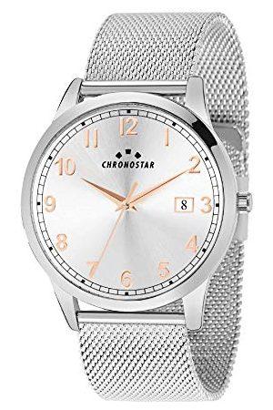 Chronostar Męski analogowy zegarek kwarcowy z bransoletką ze stali szlachetnej R3753269002