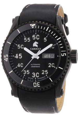 Carucci Watches męski zegarek na rękę XL analogowy automatyczny stal szlachetna CA2196BK-WH
