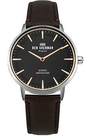 Ben Sherman Męski analogowy klasyczny zegarek kwarcowy ze skórzanym paskiem WB020BR