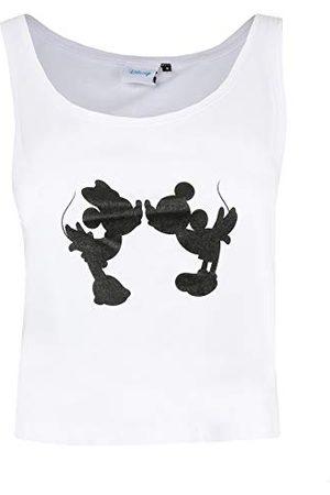 Disney Damska koszulka z sylwetką Miki i Minnie