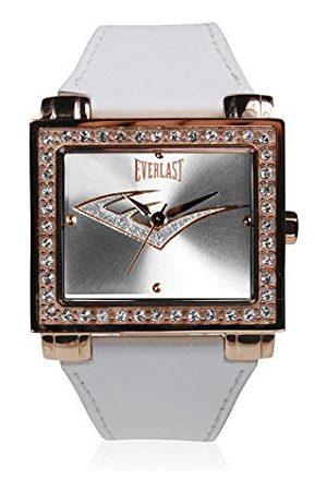 Everlast Analogowy zegarek kwarcowy ze skórzanym paskiem, dla mężczyzn i kobiet, dla dorosłych EVER33-206-003
