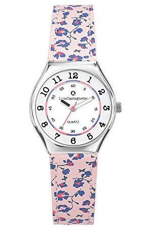 Lulu Castagnette Dziewczęcy analogowy zegarek kwarcowy ze skórzanym paskiem 38827