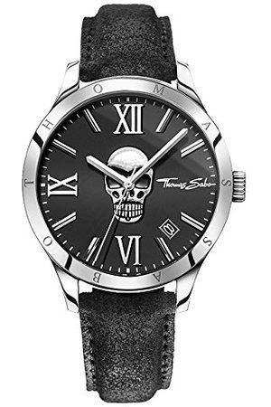 Thomas Sabo Męski zegarek na rękę analogowy kwarcowy skóra WA0210-218-203-43 mm