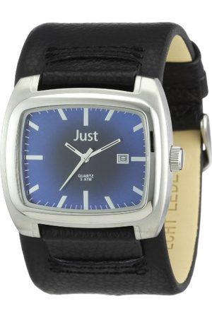 Just Watches Męski zegarek na rękę XL analogowy skóra 48-s1920-bl