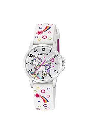 Calypso Unisex dziecięcy analogowy zegarek kwarcowy z plastikową bransoletką K5776/4