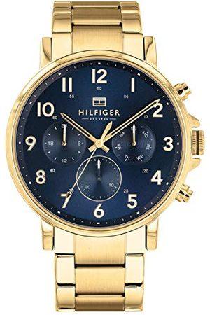 Tommy Hilfiger Męski wielofunkcyjny zegarek kwarcowy z paskiem ze stali nierdzewnej 1710384
