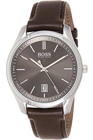 HUGO BOSS Męski analogowy zegarek kwarcowy ze skórzanym paskiem 1513726