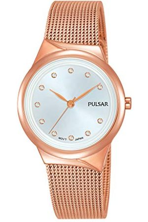 Pulsar Kwarcowy damski zegarek ze stali nierdzewnej z metalowym paskiem PH8442X1