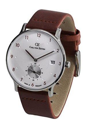 CARL VON ZEYTEN Męski analogowy kwarcowy zegarek ze skórzanym paskiem CVZ0018RD