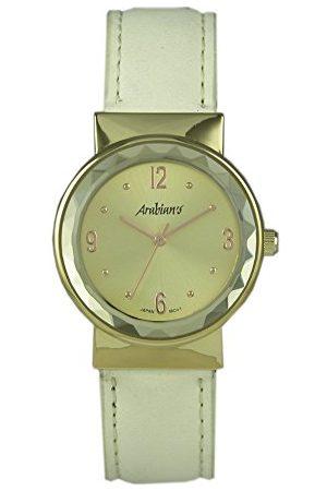 Arabians Męski analogowy zegarek kwarcowy ze skórzanym paskiem DBA2213WB