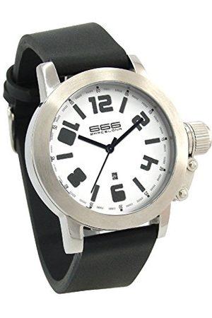 666Barcelona Męski analogowy zegarek kwarcowy z gumową bransoletką 66-213