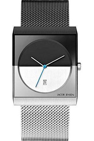 Jacob Jensen Męski analogowy zegarek kwarcowy z bransoletką ze stali szlachetnej JJ515