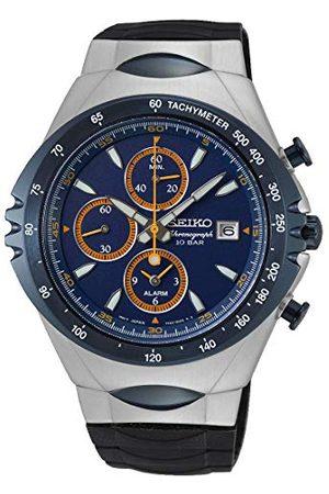 Seiko Męski analogowy zegarek kwarcowy z silikonowym paskiem SNAF85P1