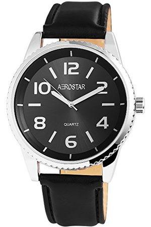 Aerostar Męski analogowy zegarek kwarcowy z imitacji skóry 21102100007