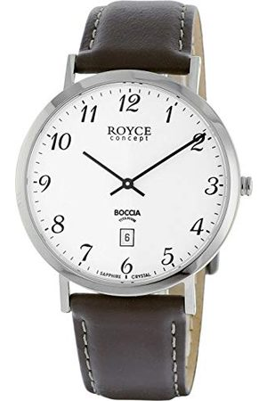 Boccia Męski analogowy zegarek kwarcowy ze skórzanym paskiem 3634-01