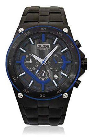 Munich Unisex dla dorosłych analogowy zegarek kwarcowy z bransoletką ze stali szlachetnej MU+141.1C