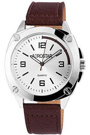 Aerostar Męski analogowy zegarek kwarcowy z imitacji skóry 21102250008