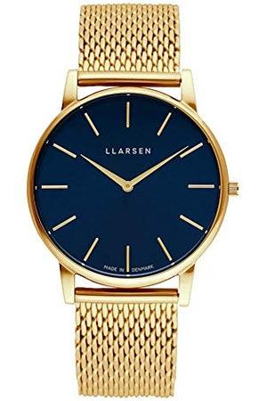 LLARSEN Męski analogowy zegarek kwarcowy z bransoletką ze stali szlachetnej 147GDG3-MG20