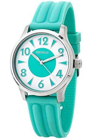 Pertegaz Kwarcowy zegarek z gumowym paskiem P70445-A