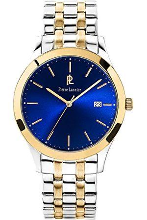 Pierre Lannier Męski analogowy zegarek kwarcowy z bransoletką ze stali szlachetnej 247G061