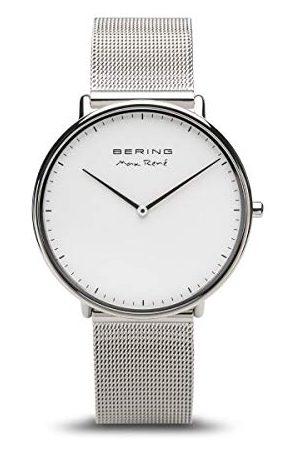 Bering Męski analogowy zegarek kwarcowy z bransoletką ze stali szlachetnej 15738-004