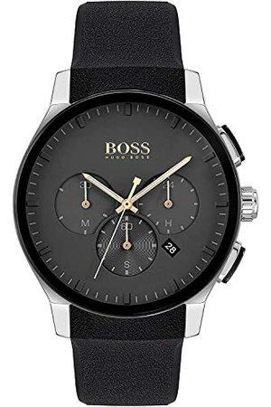 HUGO BOSS Męski analogowy zegarek kwarcowy z paskiem silikonowym 1513759