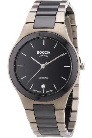 Boccia Męski analogowy zegarek kwarcowy z tytanową bransoletką – B3564-02