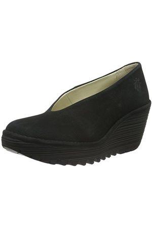 Fly London Damskie buty na platformie, czarne (Black 179), 35 EU