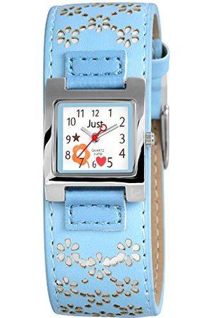 Just Watches Chłopcy analogowy zegarek kwarcowy z imitacji skóry 48-S3913-BL