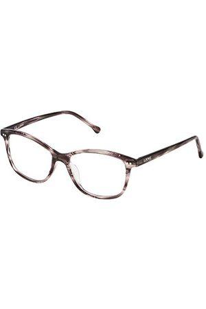 Loewe Unisex VLW9575201EW oprawka okularów, fioletowa (Streaked Burgundy), 55