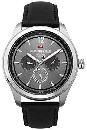 Ben Sherman Męski wielofunkcyjny zegarek kwarcowy ze skórzanym paskiem WBS112B