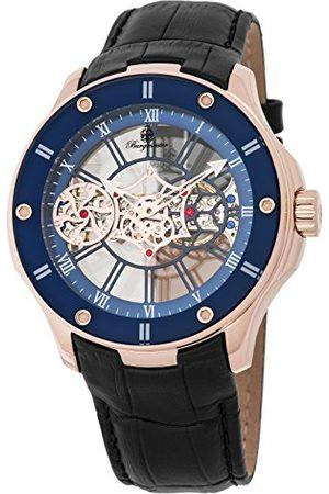 Burgmeister Męski analogowy mechaniczny ręczny wiatr zegarek ze skórzanym paskiem ze skóry cielęcej BM236-302