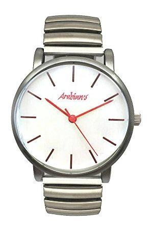 Arabians Męski analogowy zegarek kwarcowy z bransoletką ze stali szlachetnej DBA2272R