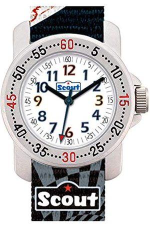 Scout Chłopięcy analogowy zegarek kwarcowy z bransoletką z materiału 280376008
