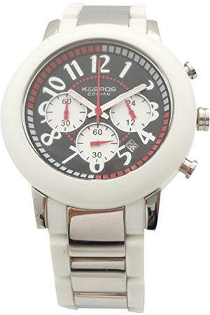 K&Bros Męski chronograf kwarcowy zegarek z bransoletką ze stali szlachetnej 9428-1-930