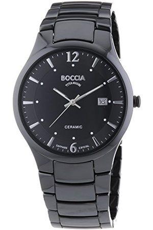 Boccia Męski analogowy zegarek kwarcowy z ceramiczną bransoletką – 3572-02