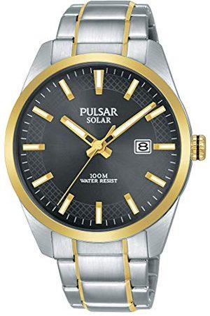Pulsar Solar PX3184X1 zegarek męski ze stali nierdzewnej z metalowym paskiem
