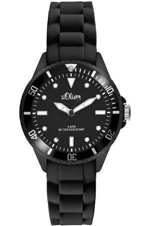 s.Oliver Analogowy zegarek kwarcowy, z silikonowym paskiem, unisex SO-2295-PQ /