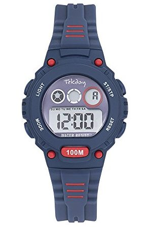 Tekday Unisex dziecięcy zegarek cyfrowy z silikonową bransoletką 653274